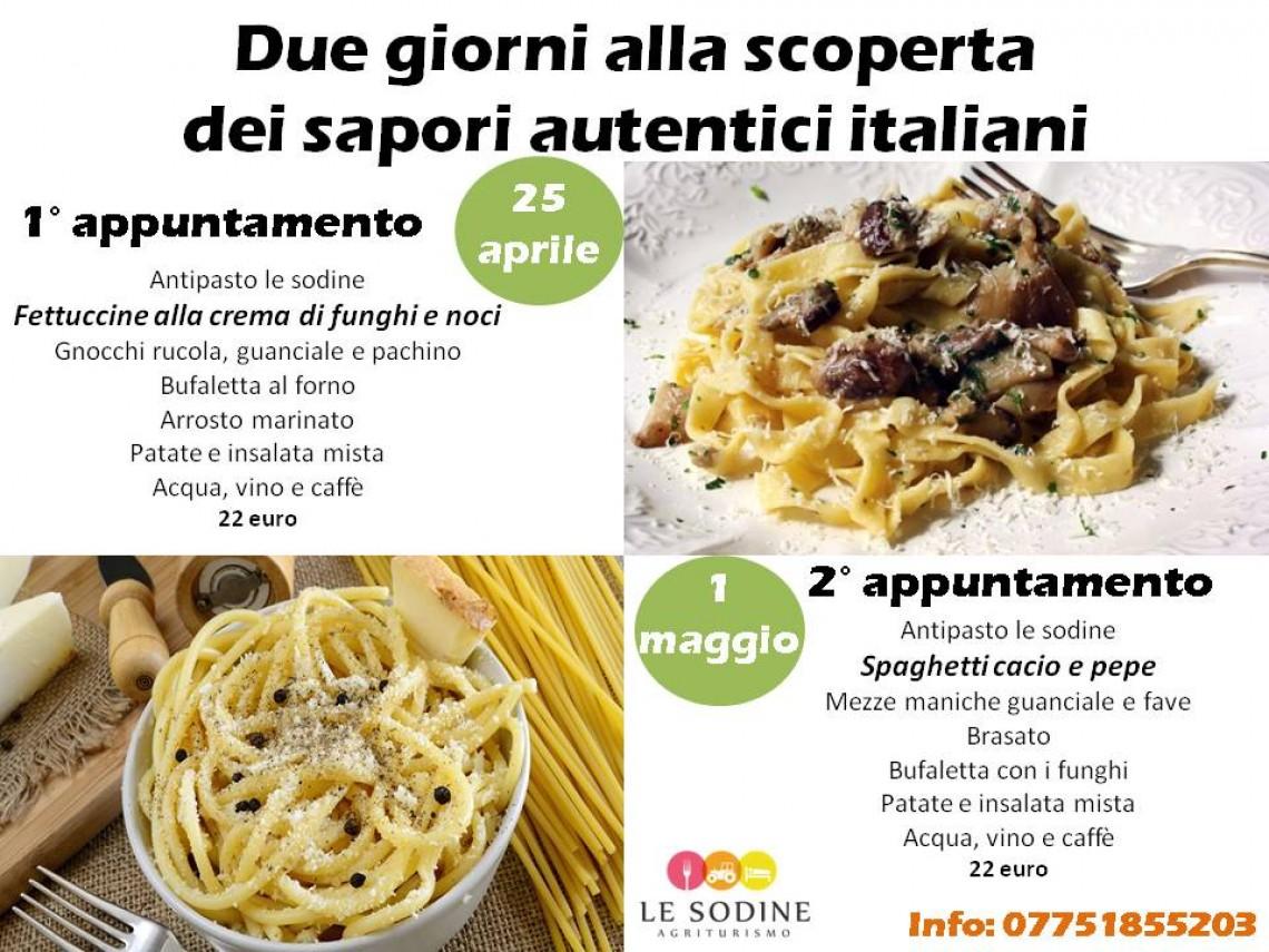 Due giorni alla scoperta dei sapori autentici italiani